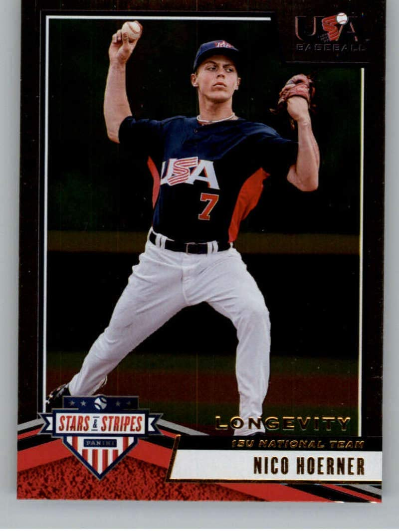 2020 Stars and Stripes Longevity Retail #64 Joseph Brown USA Baseball 15U National Team Official Panini America USA Baseball Licensed Trading Card