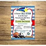 All Star Sports Boy Baby Shower Invitation, Sports Theme Baby Shower  Invitation