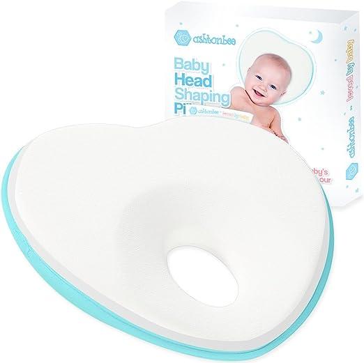 /Ergonomic Design/ /Purple y lila Memory Foam Baby Pillow Blue Memory Foam Head Pillow Babies rosa Rosa Memory Foam Baby Pillow with two Removable 100/% Cotton Covers Prevent Flat Head/