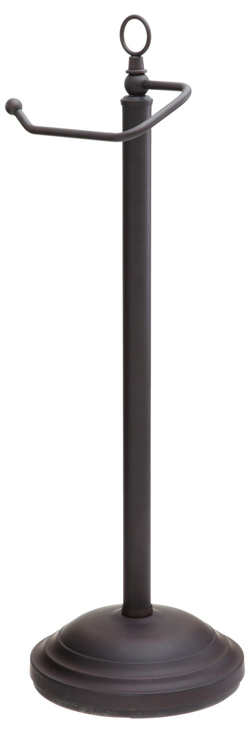 Taymor Oil Rubbed Bronze European Pedestal Toilet Tissue Holder with Decorative Finial