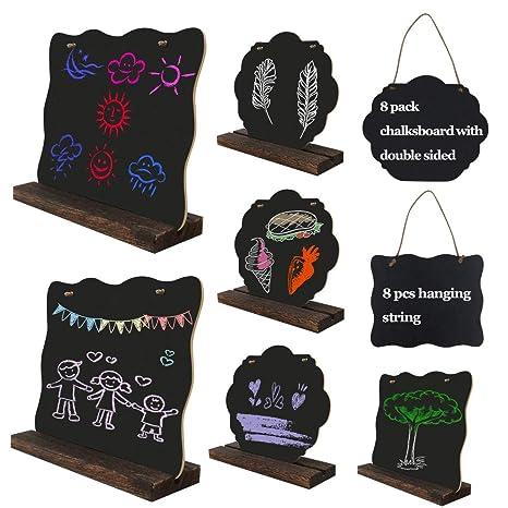 Amazon.com: X XBEN - Carteles de pizarra con cuerda para ...