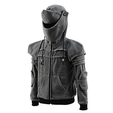 3642e1b8 Men's Arthur Knight Hoodie Medieval Armor Sweatshirt Long Sleeve Jacket  Coat (Kids 3T, Gray