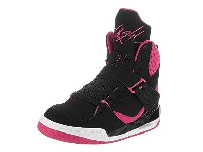 Nike Girls' Jordan Flight 45 High Ip GG Basketball Shoes, Black (Black/