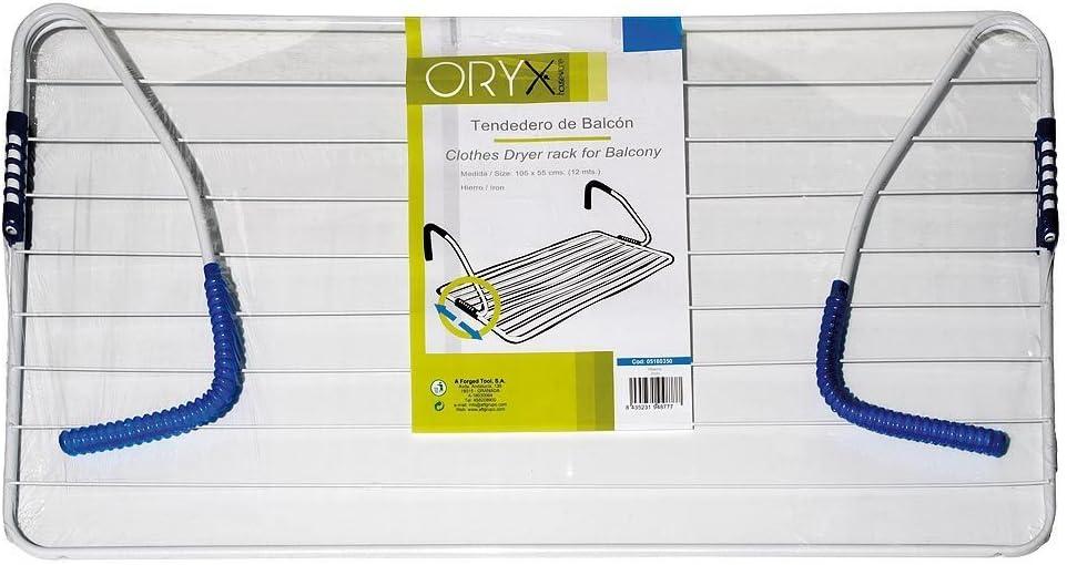 Tendedero de balc/ón 105 x 55 cm acero Oryx 5160350 surtido: colores aleatorios