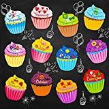 preschool birthday chart - Classroom Birthday Chart Cupcakes Classroom Birthday Bulletin Board Cutouts Cupcake with Glue Point Dots for Bulletin Board Classroom School Birthday Party, 9.6 x 11.6 Inch