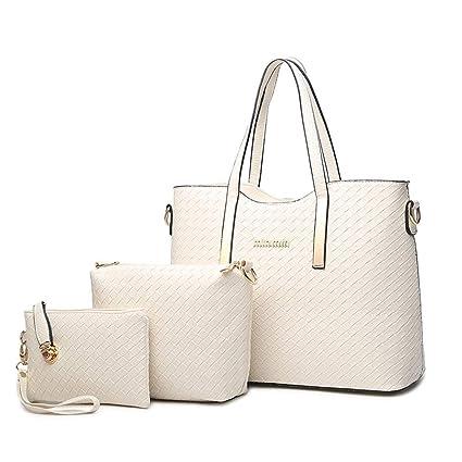 Amazon.com: AHDA Women Fashion PU Leather Handbag+Shoulder ...