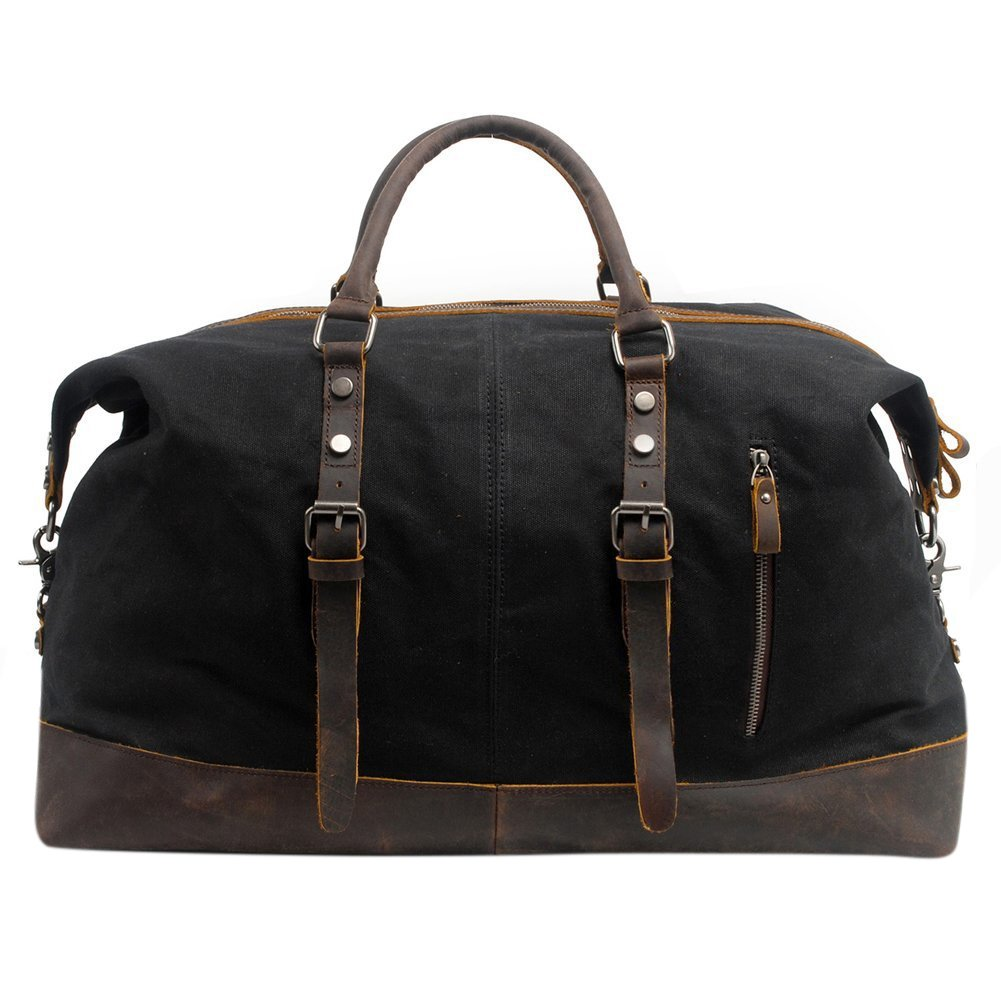 P.KU.VDSL borsa continentale, borse di tela casuali, borse da donna, borse a tracolla (Khaki - impermeabile)