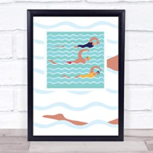 Swimmers Swimming Decorative Wall Art Print
