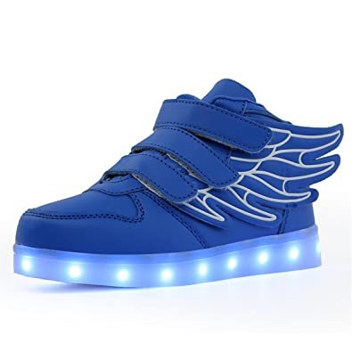 Paragon Niños Niñas Zapatillas LED Zapatos con Luces 7 Colores USB Carga Luces Luminosos Zapatos de Deporte Sneakers: Amazon.es: Zapatos y complementos