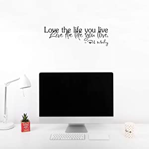 Love The Life You Live.. 23 Inch Quote Vinyl Wall Decal Sticker Art