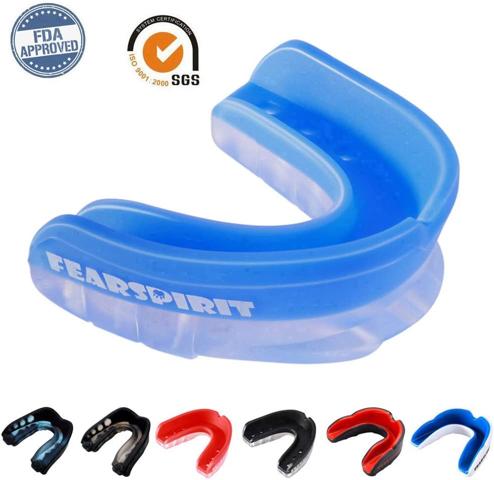 FearSpirit Sports Mouth Guard for Kids Youth/Adults-Mouthguard for Lacrosse