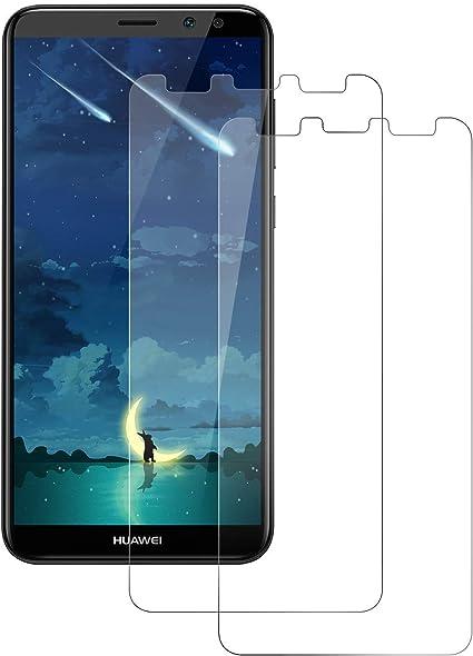 POOPHUNS Cristal Templado Huawei Mate 10 Lite, 2-Unidades ...