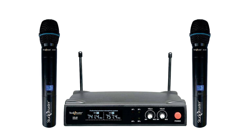 Studiomaster Dual Wireless Microphone 2 Hand Mic Xr 40hh Amazon Echo Mics Cb Radio Wiring Musical Instruments