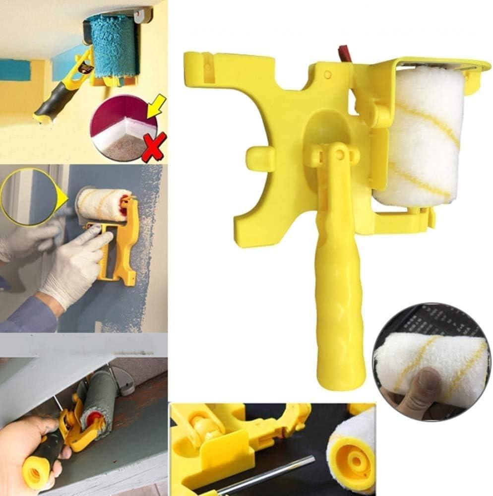 Spazzola per rullo di vernice Maniglia per pittura per soffitti a parete di casa taglio netto Pennello per rullo Pennello Strumento sicuro portatile