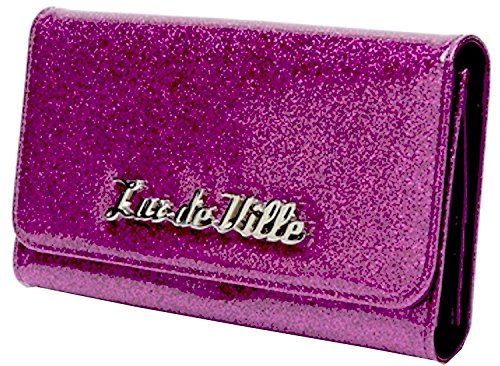 Lux De Ville Miss Lux Wallet (Electric Purple Sparkle) (De Ville Lux Purses)