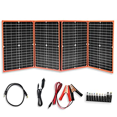 XINPUGUANG 80W 12V Foldable Solar Panel Kit Portable Battery Charger kit 5V USB DC for Cell Phone, car, ipad, Laptop, Portable Power Supply, Power Bank : Garden & Outdoor
