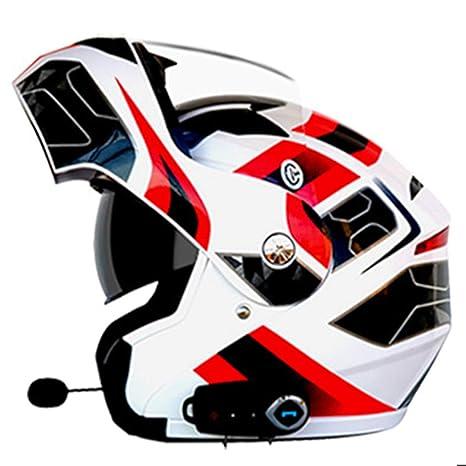 DRAGSP Casco Bluetooth Antivaho De Doble Lente para Motocicleta ...