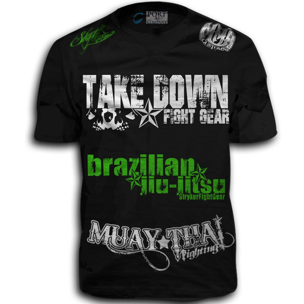 Ufc Tapout 2: Take Down Fight Gear Skull Muay Thai Fighting Brazilian