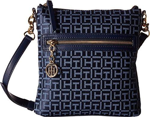 b5de06c611c3 Tommy Hilfiger Women s Leila North South Crossbody Navy Lapis Crossbody Bag