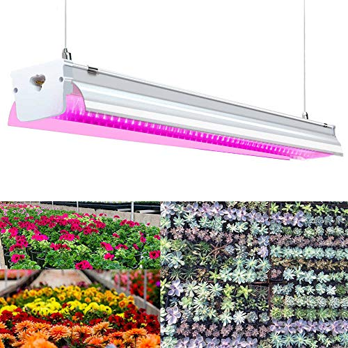 SHOPLED LED Grow Lights T15 2ft 32W Red Light Spectrum Plant Growing Lamp Integrated Fixture for Indoor Plants Seed Starting, Succulents, Flower, Grow Tent, Greenhouse, City Farm