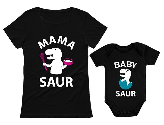 Amazon.com: Mama Saur - T-Rex Mamá y Bebé Saur a juego traje ...