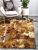 Unique Loom Barista Collection Abstract Modern Rustic Warm Beige Area Rug (9′ x 12′)