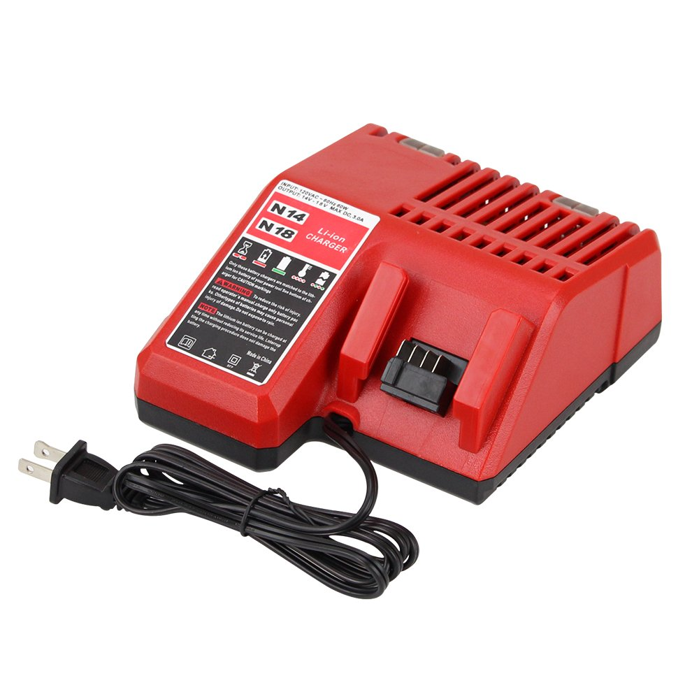 Replacement M18 Battery Charger for Milwaukee 14V-18V Lithium-ion Charger 48-11-1815 48-11-1840 Sun Power