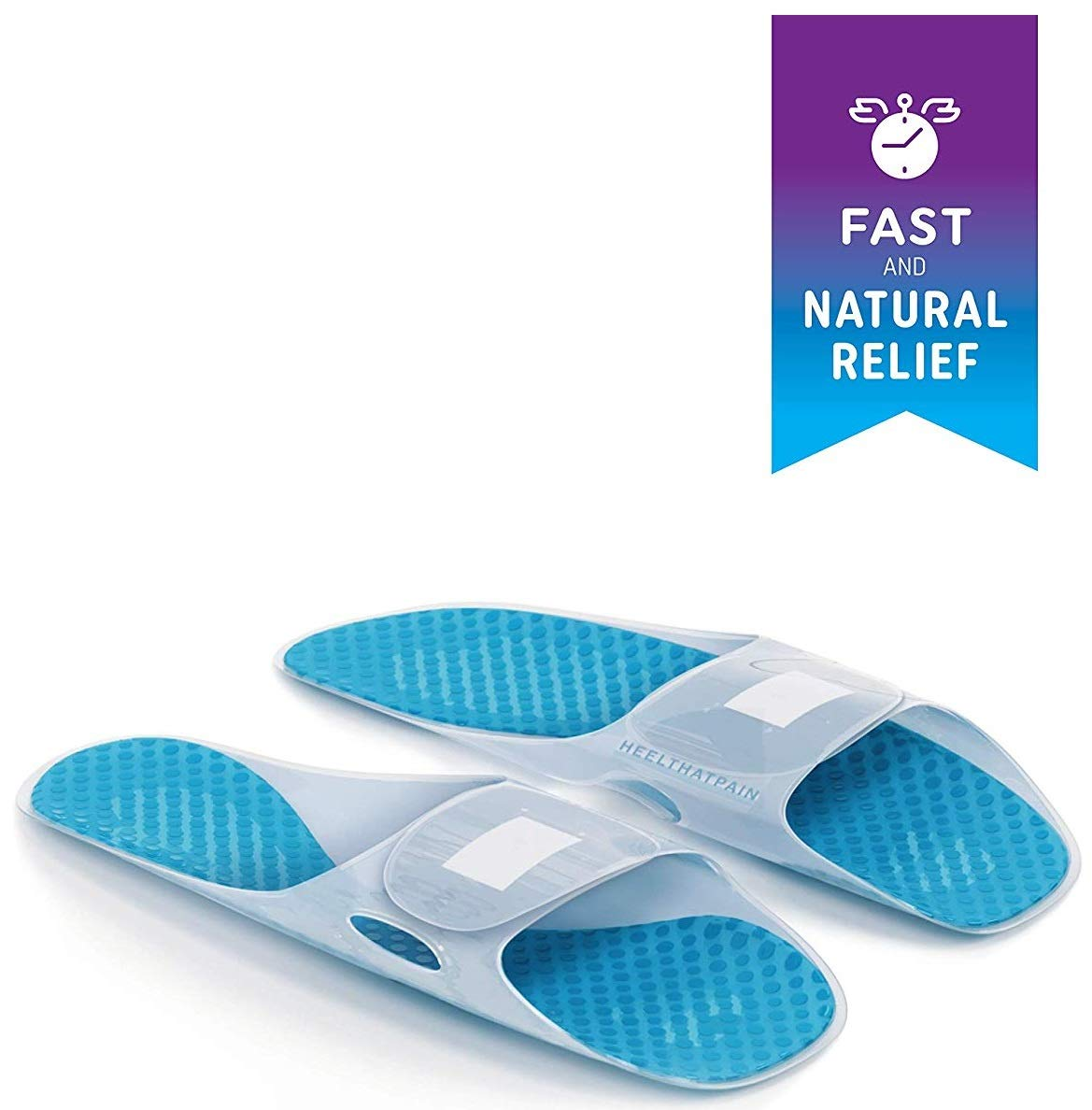 Heel That Pain Plantar Fasciitis Ice Pack and Heat Therapy Slippers- Fast and Natural Pain Relief from Heel Toe Foot Pain, Inflammation, and Swelling, One Size Fits All by Heel That Pain