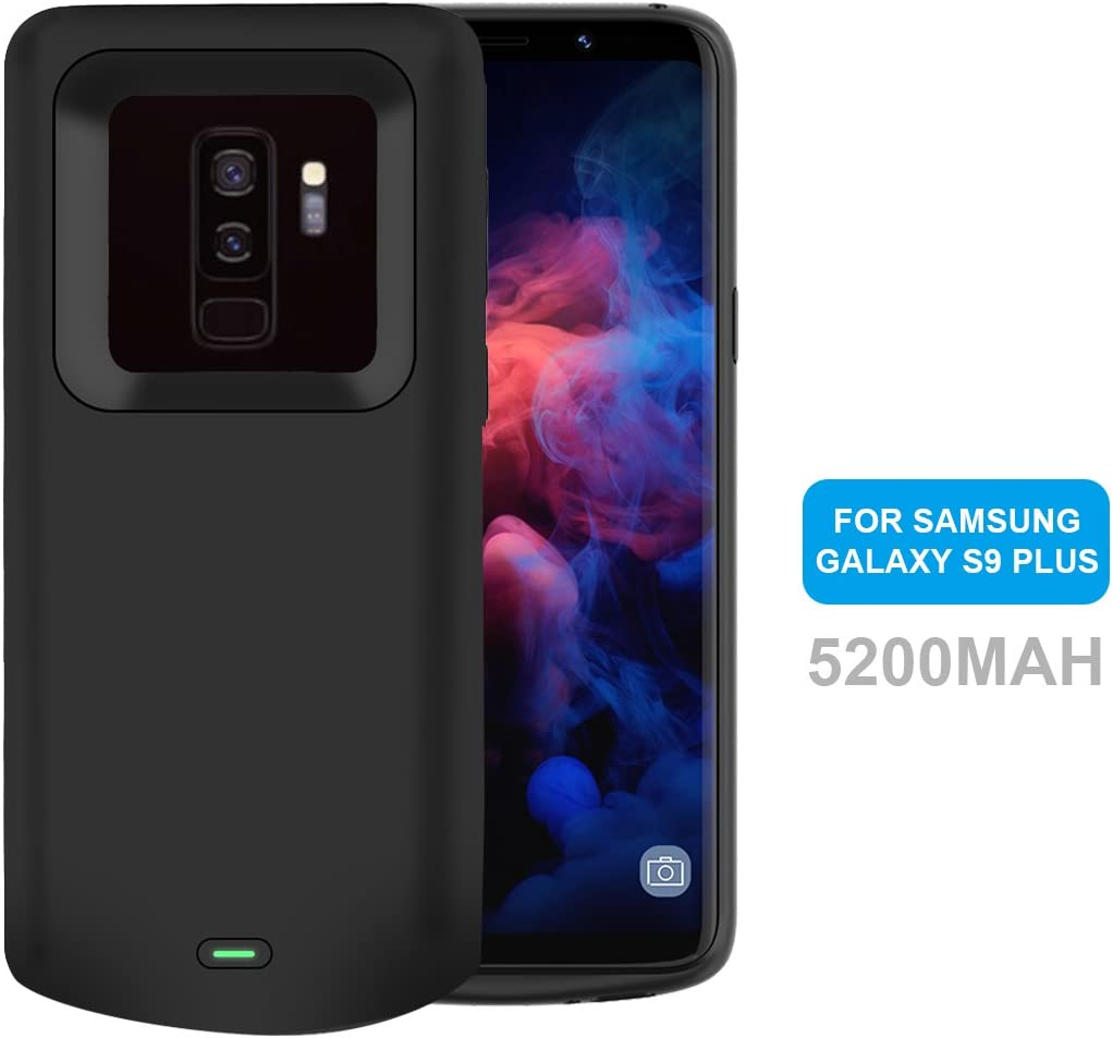 Funda Bateria Samsung Galaxy S9 Plus, NOVPEAK 5200mAh Batería Externa, Portatil Recargable Cargador de Bateria Carcasa Protectora para Samsung Galaxy S9 Plus (Negro): Amazon.es: Electrónica