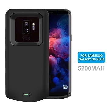 Funda Bateria Samsung Galaxy S9 Plus, NOVPEAK 5200mAh Batería Externa, Portatil Recargable Cargador de Bateria Carcasa Protectora para Samsung Galaxy ...