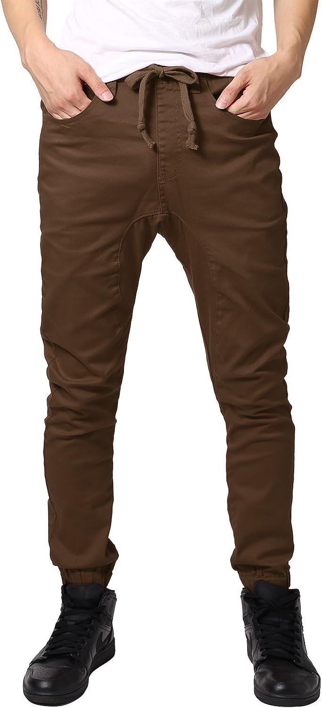 JD Apparel Men's Harem Twill Joggers Pants Apg804_dd Wheat