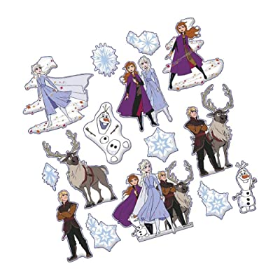 "Frozen 2 Birthday, Puffy Sticker Sheets, 6"", 15 Ct.: Toys & Games"