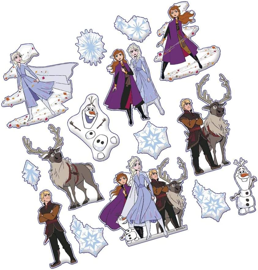 6 Frozen 2 Birthday 15 Ct. Puffy Sticker Sheets
