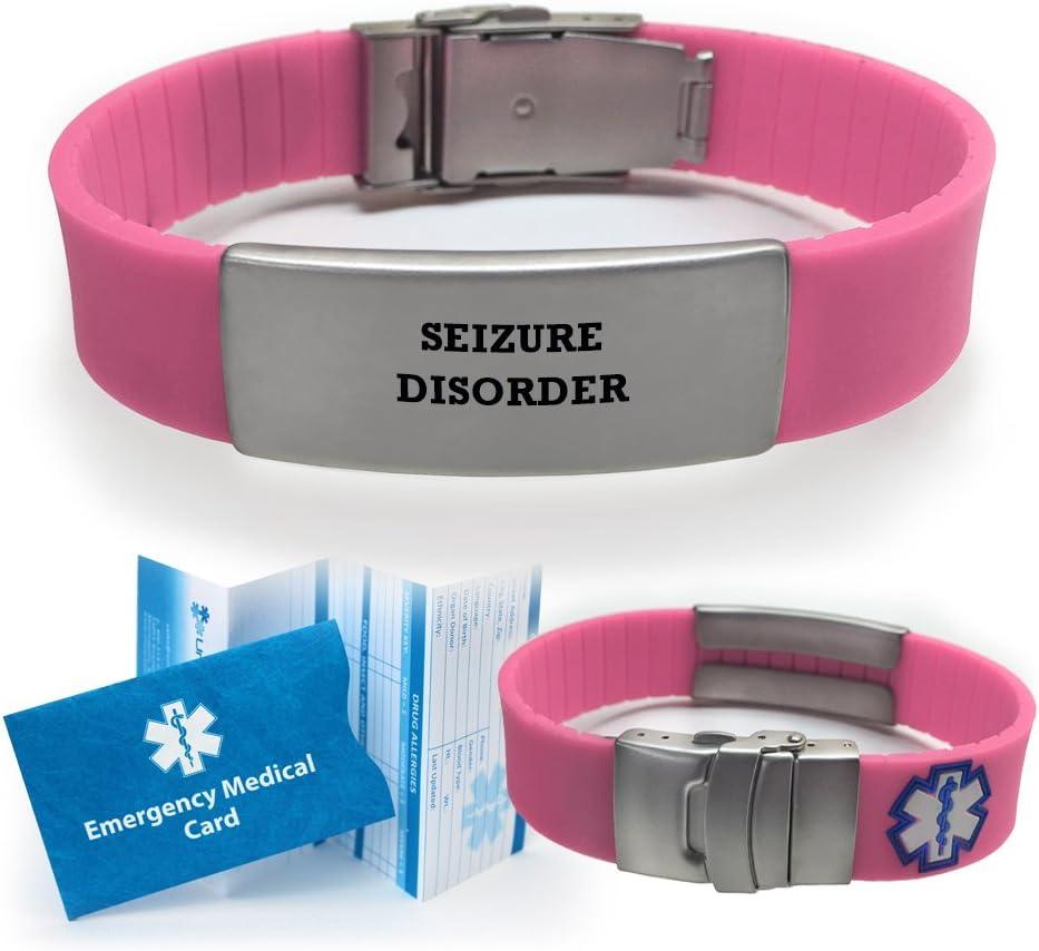 Seizure Disorder Sport Medical Alert ID Bracelet for Women