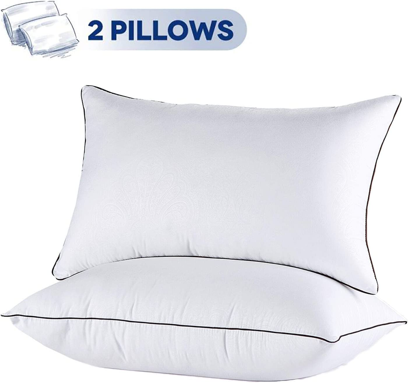 JOLLYVOGUE 2 Pack Bed Pillows for Sleeping