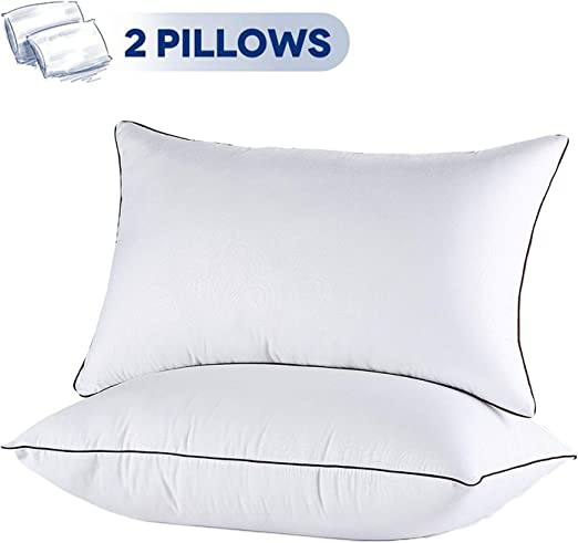 4-Pack Hypoallergenic Down-Alternative Super Soft Bed Pillows