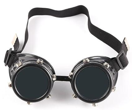 zaiqun Cyber gafas ajustable soldadura Goth Cosplay Fotos rústico Vintage