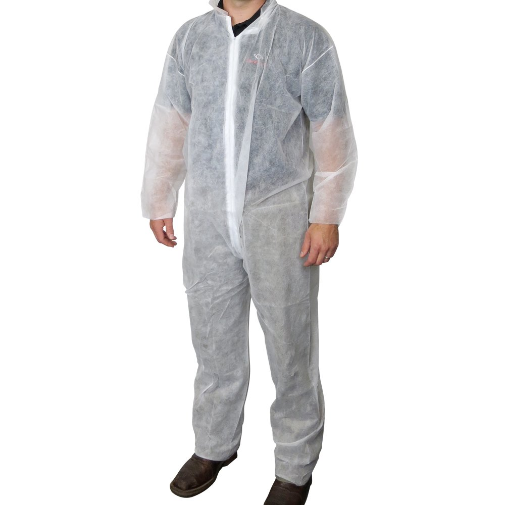 UltraSource Disposable Polypropylene Coveralls, Large (Pack of 25)