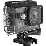 SJCAM SJ4000 1080P Action Camera 12MP Waterproof Underwater Camera 2.0 LCD Screen Display FHD Sports Camcorder- Black