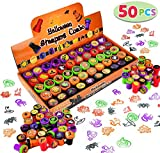 25 Designs includes 5 Pumpkin Stampers, 6 most popular Character (Ghost, Mummy, Frankenstein, Witch, Vampire and Reaper) Stampers, Trick Or Treat Stampers 5 Colors: Pumpkin Orange, Evil Black, Witch Purple, Frankenstein Green and Bloody Vampire Red) ...