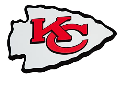 Amazoncom Nfl Kansas City Chiefs 3d Foam Wall Sign Home Kitchen