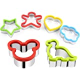 Stainless Steel Sandwiches Cutter, Mickey Mouse & Dinosaur Cookie cutter & Star Flower Heart People Shapes Biscuit Cutter -Food Grade Biscuit Mold Cookie Cutter for Kids Suitable for Cakes and Cookie