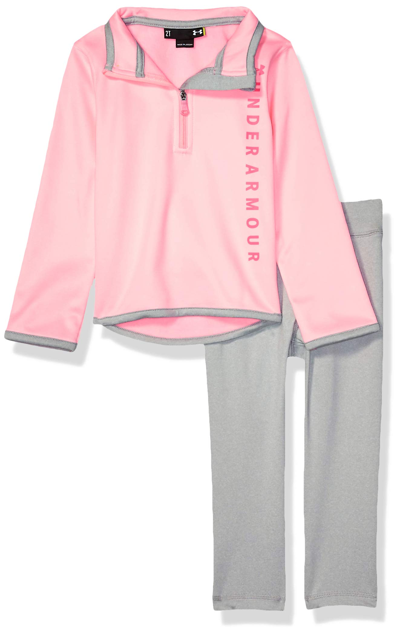 Under Armour Girls' Little Teamster Track Set, POP Pink f19, 5 by Under Armour