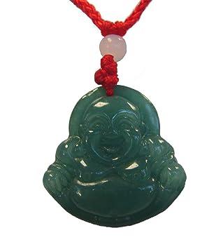 Amazon chinese green jade buddha pendant bringing happiness chinese green jade buddha pendant bringing happiness mozeypictures Images