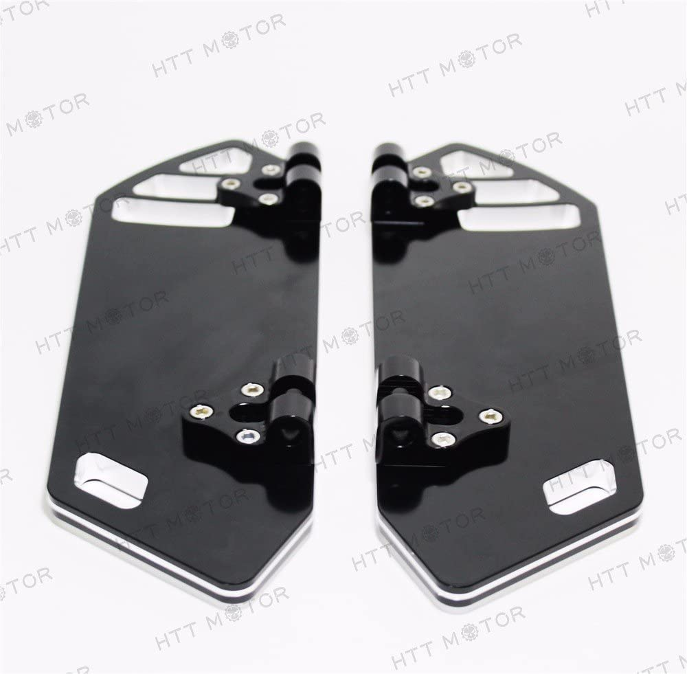 HTTMT H1314 Chrome Billet Rear Passenger Foot Board Floorboard Compatible with Harley Touring Road King