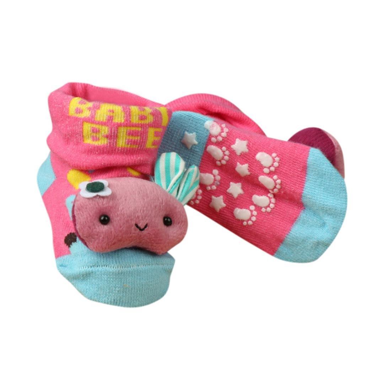 Clode/® Baby Socks Shoes Cute Newborn Baby Girls Boys Print Anti-Slip Socks Slipper Shoes Booties