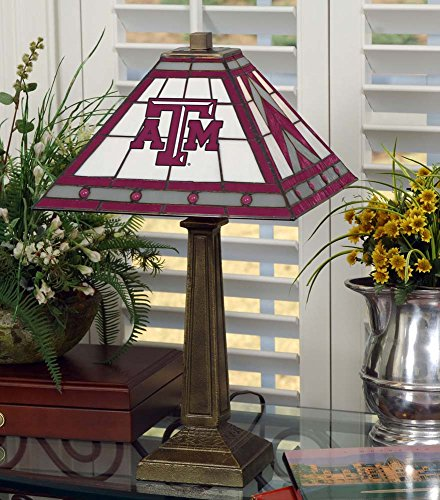 NCAA Texas A&M University 23in Mission Lamp, One Size, Multicolor by Memory Company