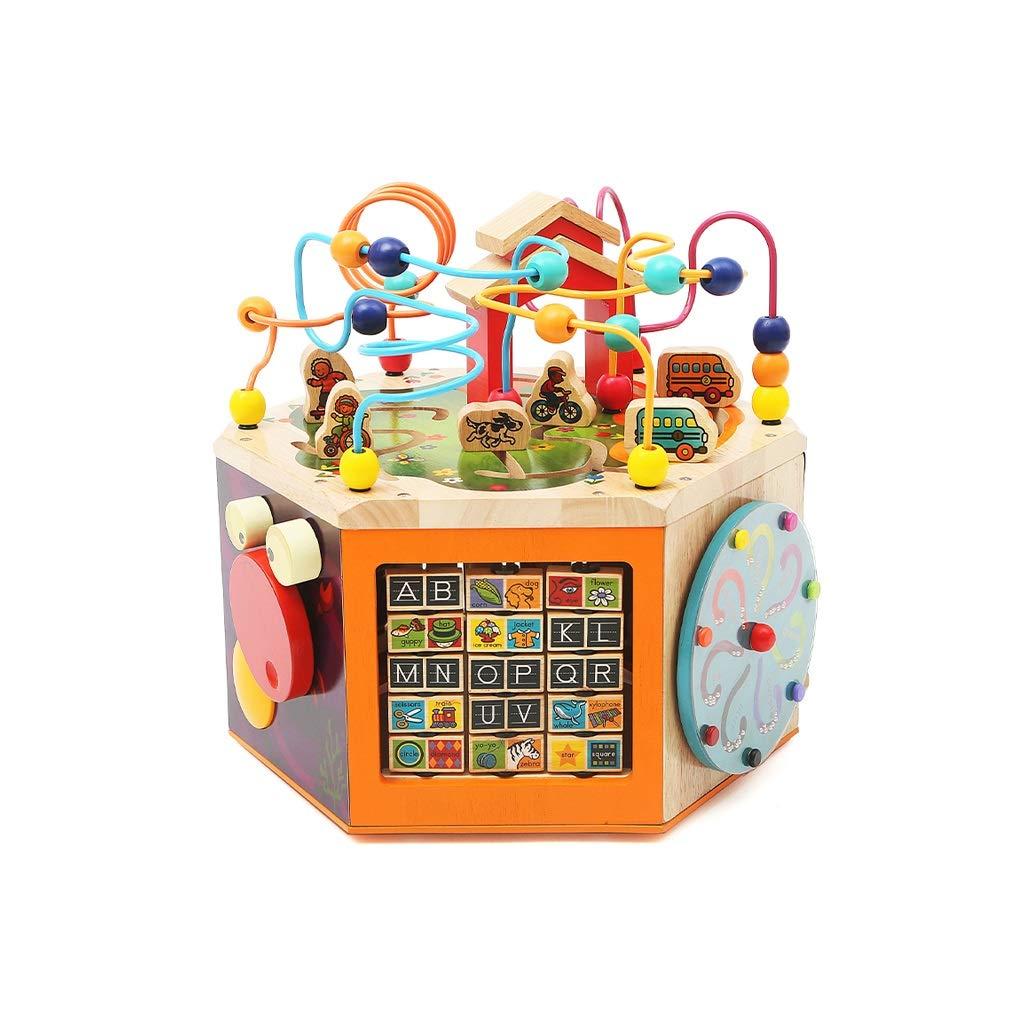 LIUFS-TOY Children's Toys Puzzle Development Men and Women Early Education Building Blocks Bead Box ( Size : L-Illuminated Button )