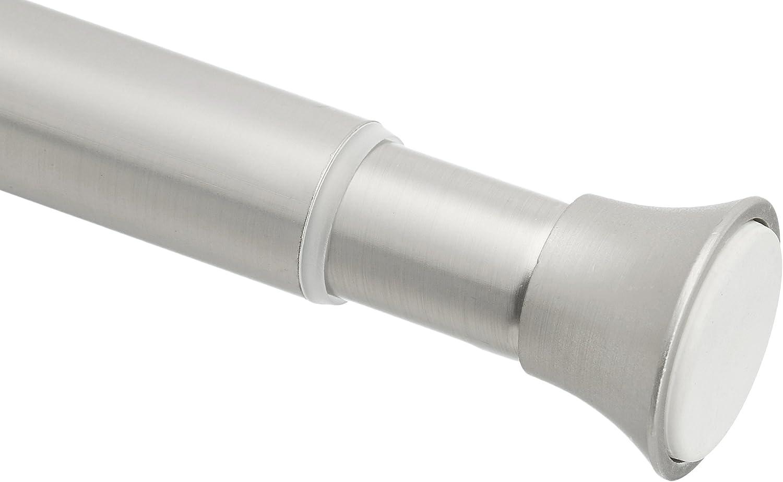 AmazonBasics - Barra de tensión para cortina de ducha, 137 a 228cm, níquel
