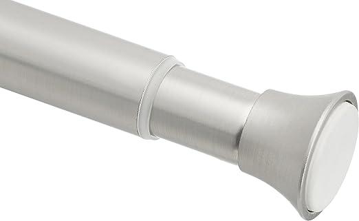 Amazon Basics - Barra de tensión para cortina de ducha, 137 a 228cm, níquel